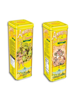 Lazzaroni - Amaretti Soft Tower Tin Lemon